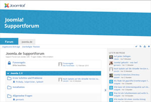 Screenshot Joomla Support Forum DE